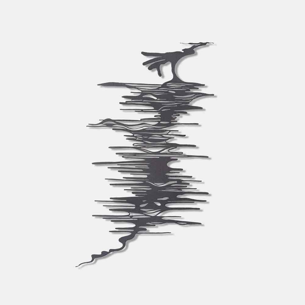 Metalen silhouet Water - kunstwerk Bas Berkelmans - Moergestel