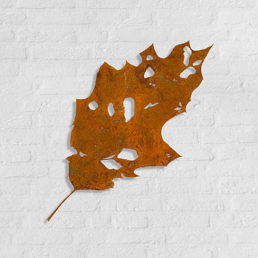 Metalen silhouet Amerikaanse-eik - kunstwerk van Bas Berkelmans