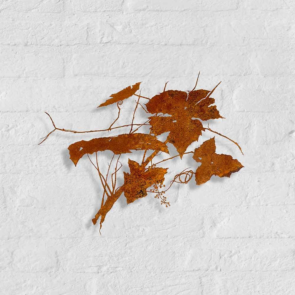 Metalen silhouet Druif - kunstobject van Bas Berkelmans - Moergestel