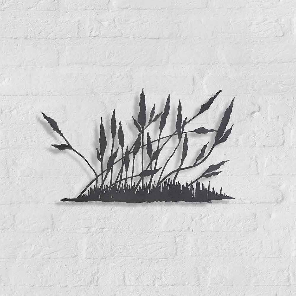 Metalen silhouet Wild-gras - kunstobject van Bas Berkelmans - Moergestel