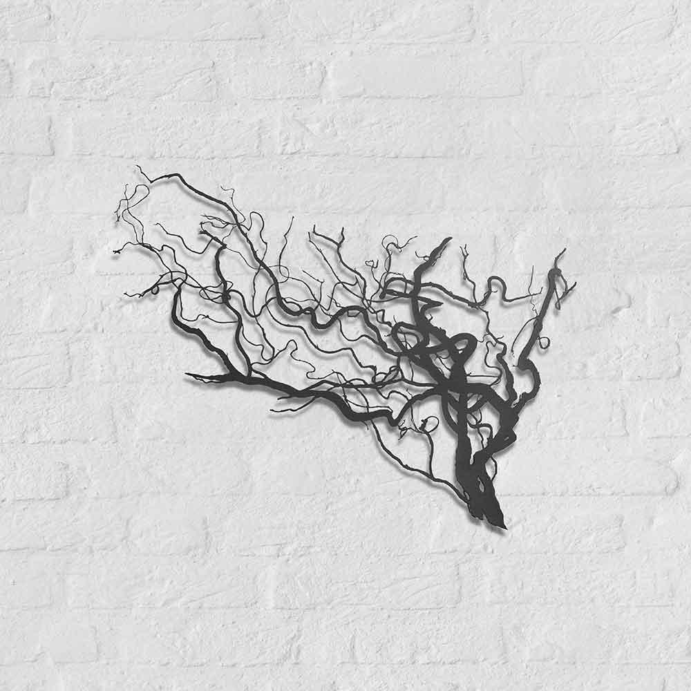 Metalen silhouet Wilgentak - kunstobject Bas Berkelmans - Moergestel